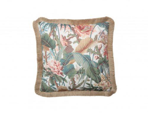 Fringed Jungle Cushion