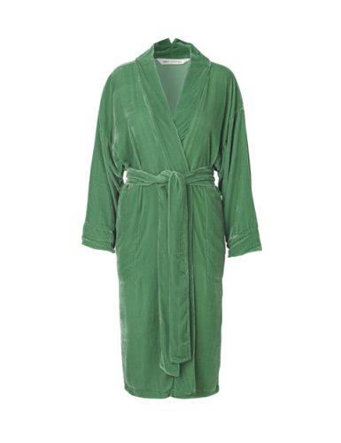 Emerald Silk Velvet Kimono