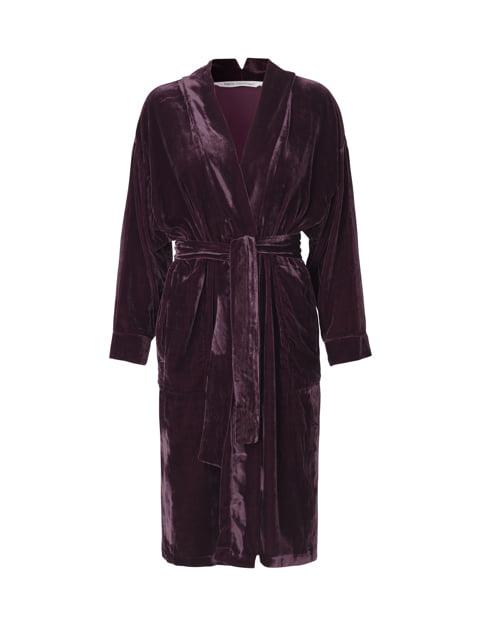 Amethyst Silk Velvet Kimono
