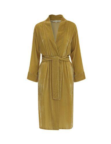 Citrine Silk Velvet Kimono