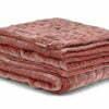 Coral Silk Velvet Bedspread