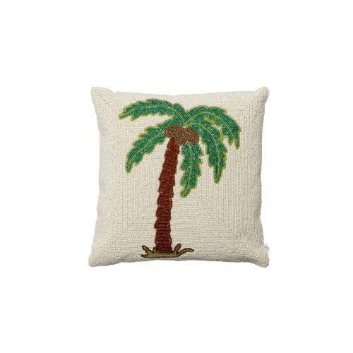 Beaded Palm Cushion