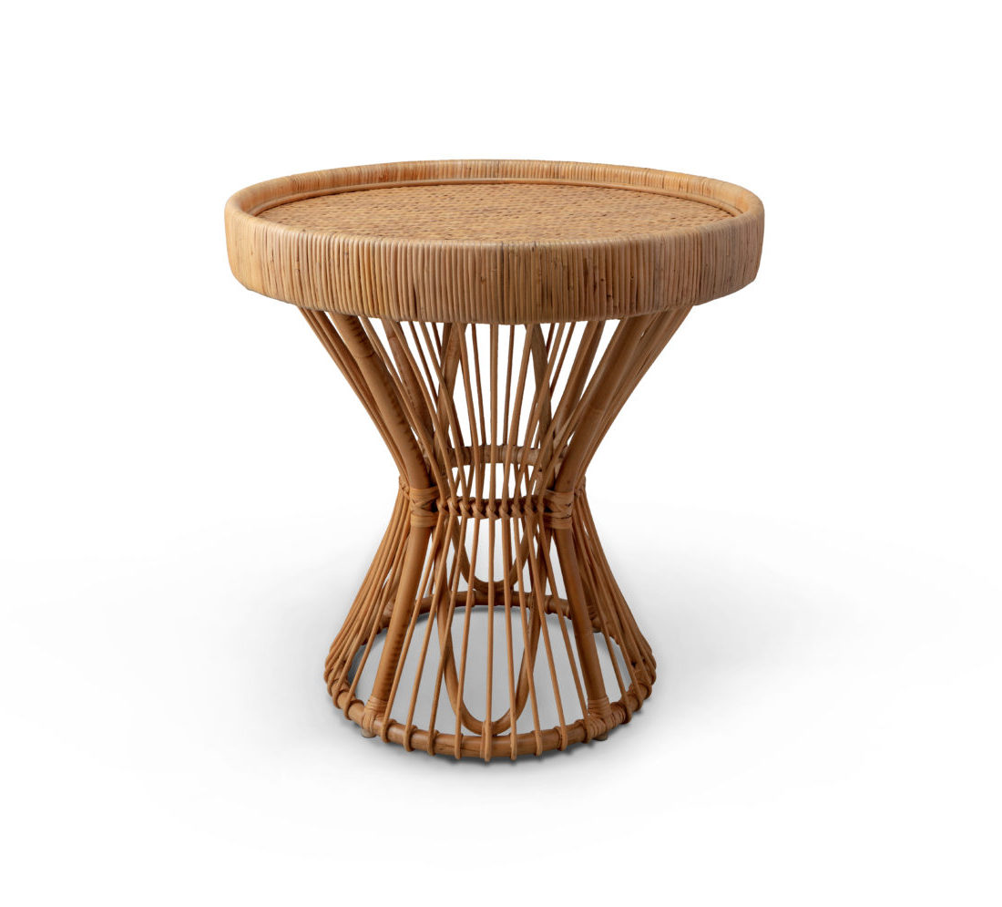 Large Caned Side Table