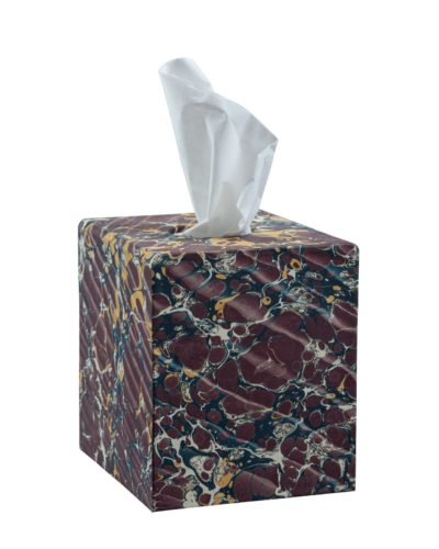 Burgundy Tissue Box