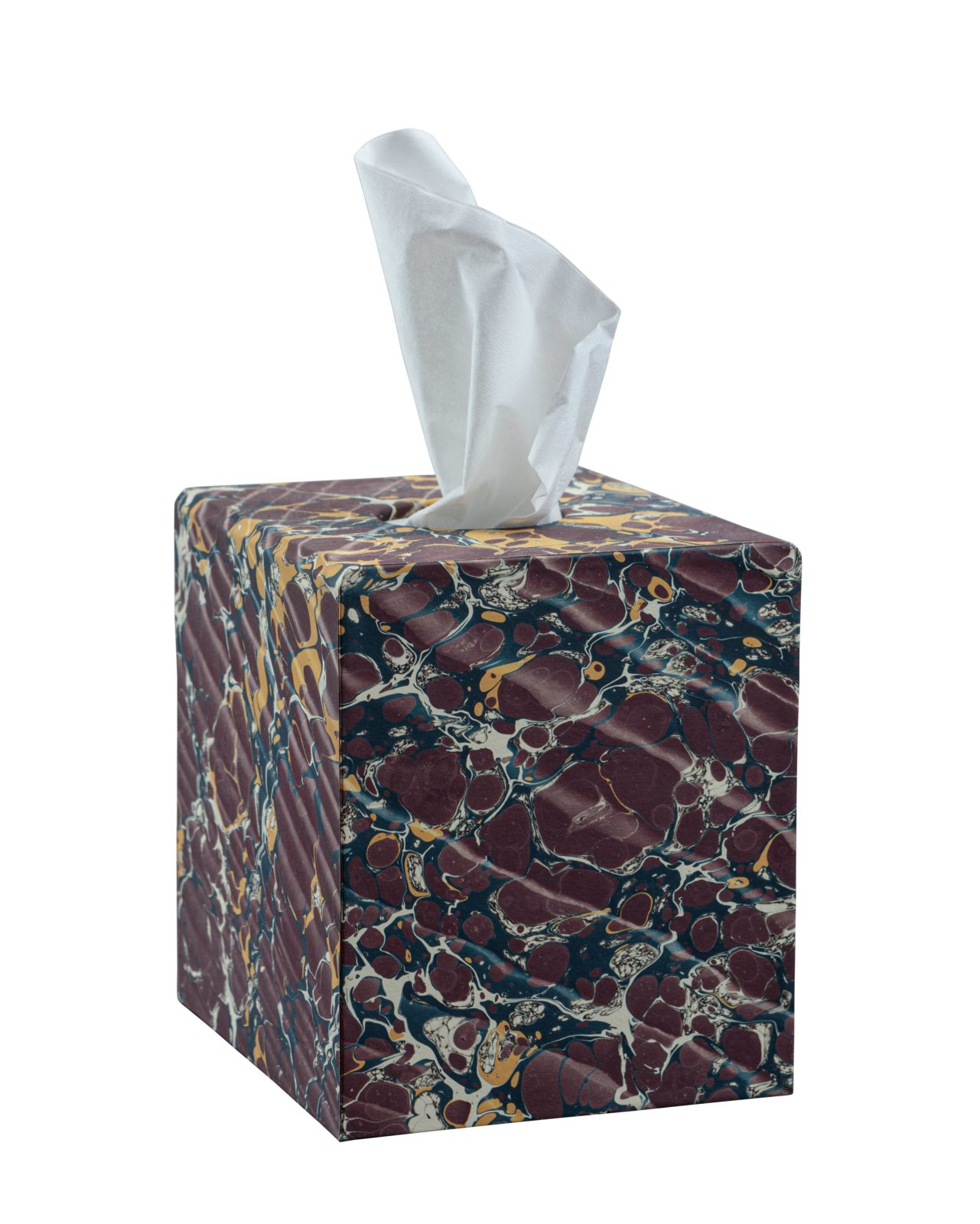 Burgundy Tissue Box