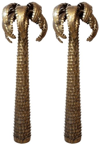 Pair of Palm Torchieres