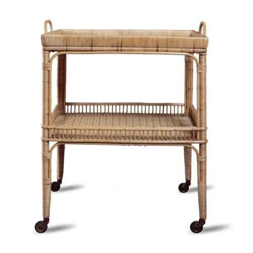 Rattan Bar Trolley
