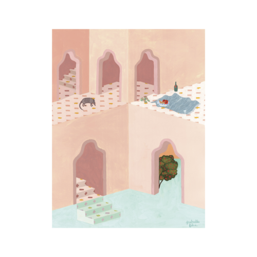 'A Strange Place To Picnic' Print