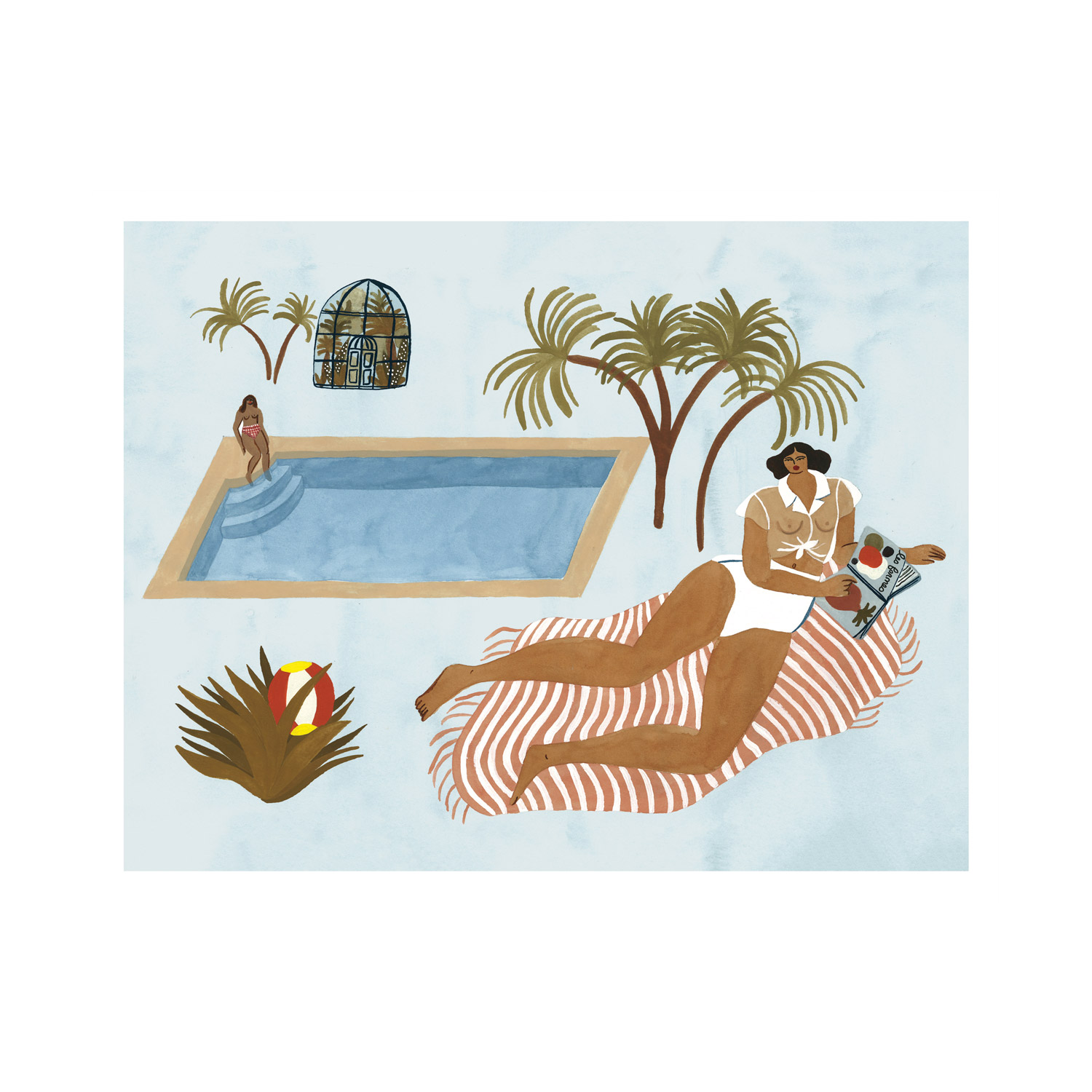 'Far Off Poolside' Print