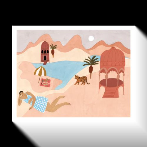 'Quiet Beach' Print