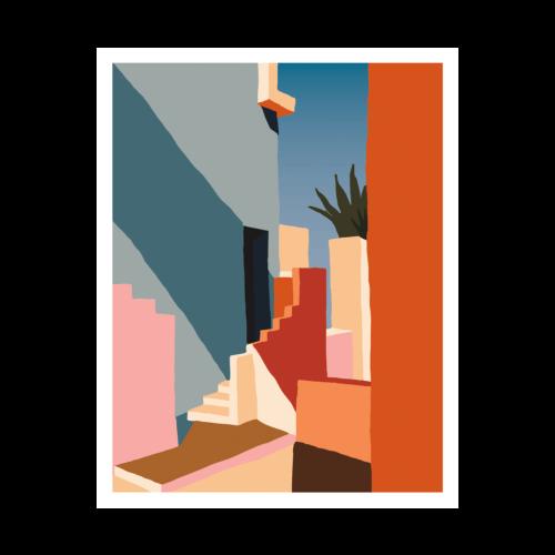 'Tangerine Stairs' Print