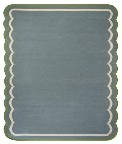 Denim Scallop Rug