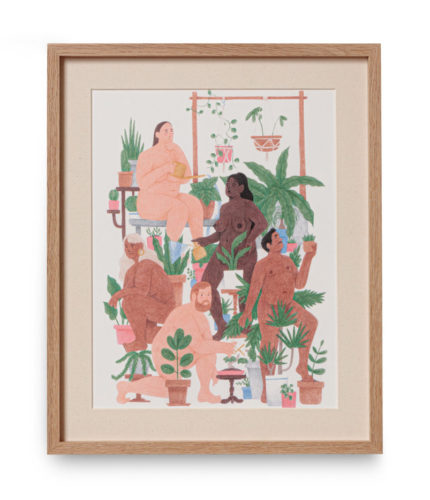 'Nude Plant People' Print